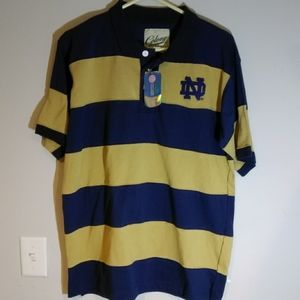 Colony Official Notre Dame NCAA NWT Polo Shirt